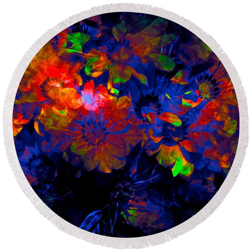 Abstract Round Beach Towel featuring the photograph Abstract 129 by Pamela Cooper