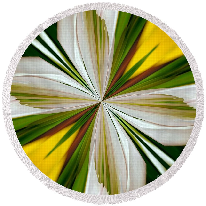 Abstract 296 Round Beach Towel featuring the digital art Abstract 296 by Maria Urso
