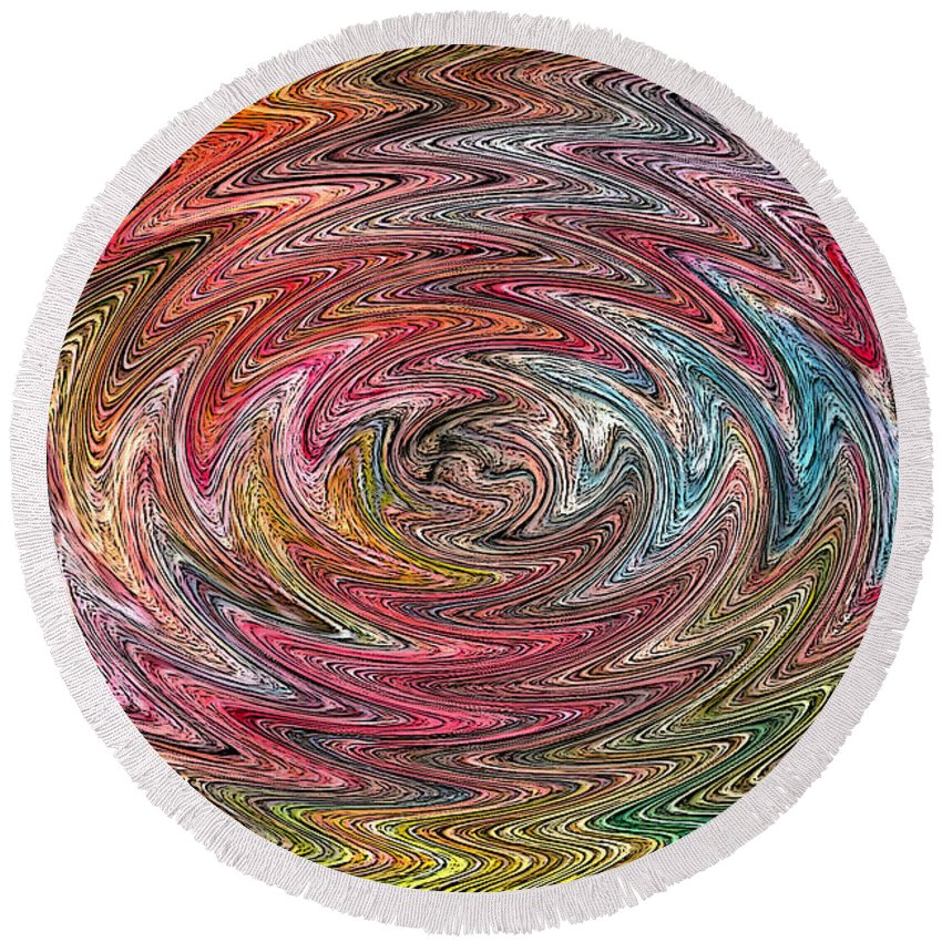 Swirl Round Beach Towel featuring the digital art Abstract 404 by James Raynor