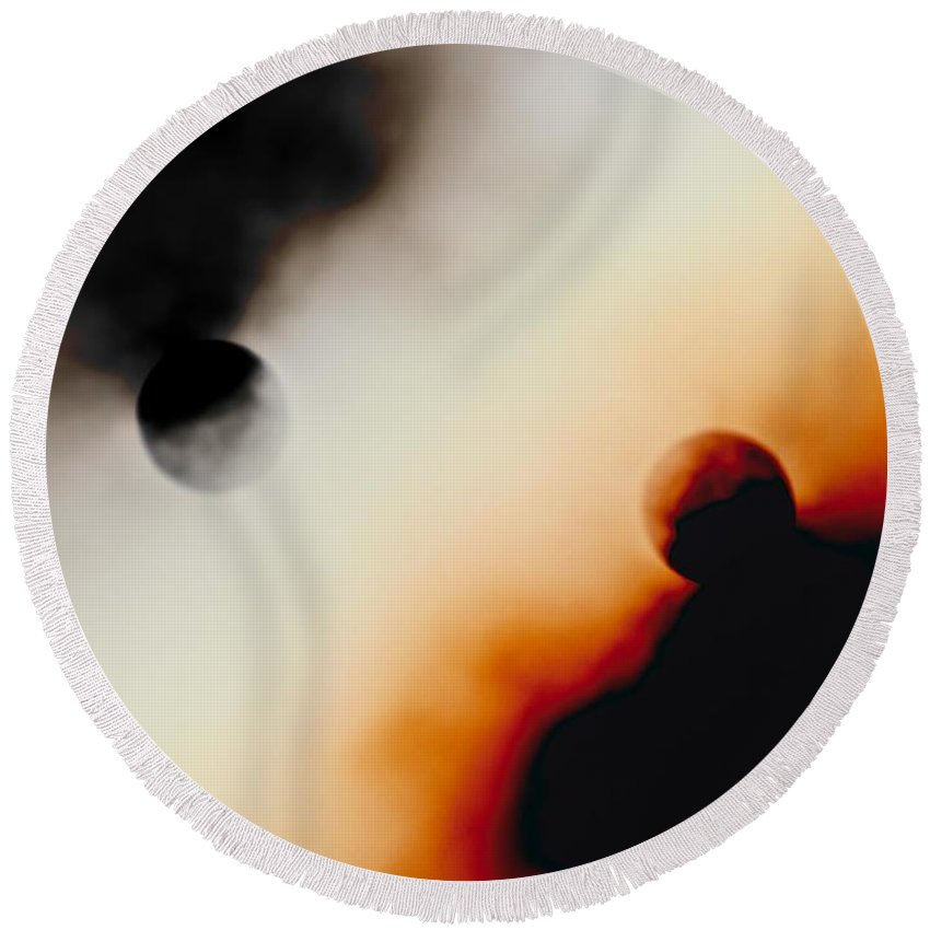 Sun Round Beach Towel featuring the photograph Abstract Apocalypse by Kathleen Odenthal