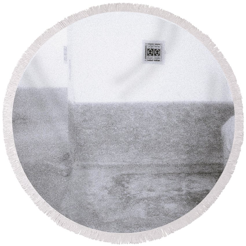 Solitude Round Beach Towel featuring the photograph Stoicism by Shaun Higson