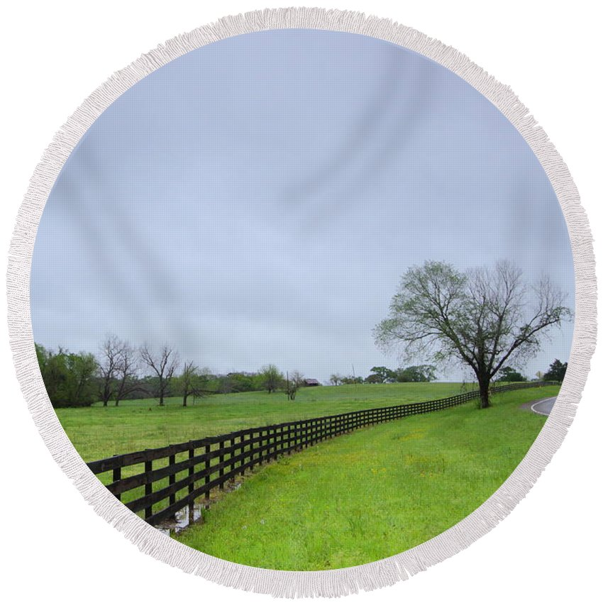Rural Round Beach Towel featuring the photograph After The Storm by Andrew McInnes
