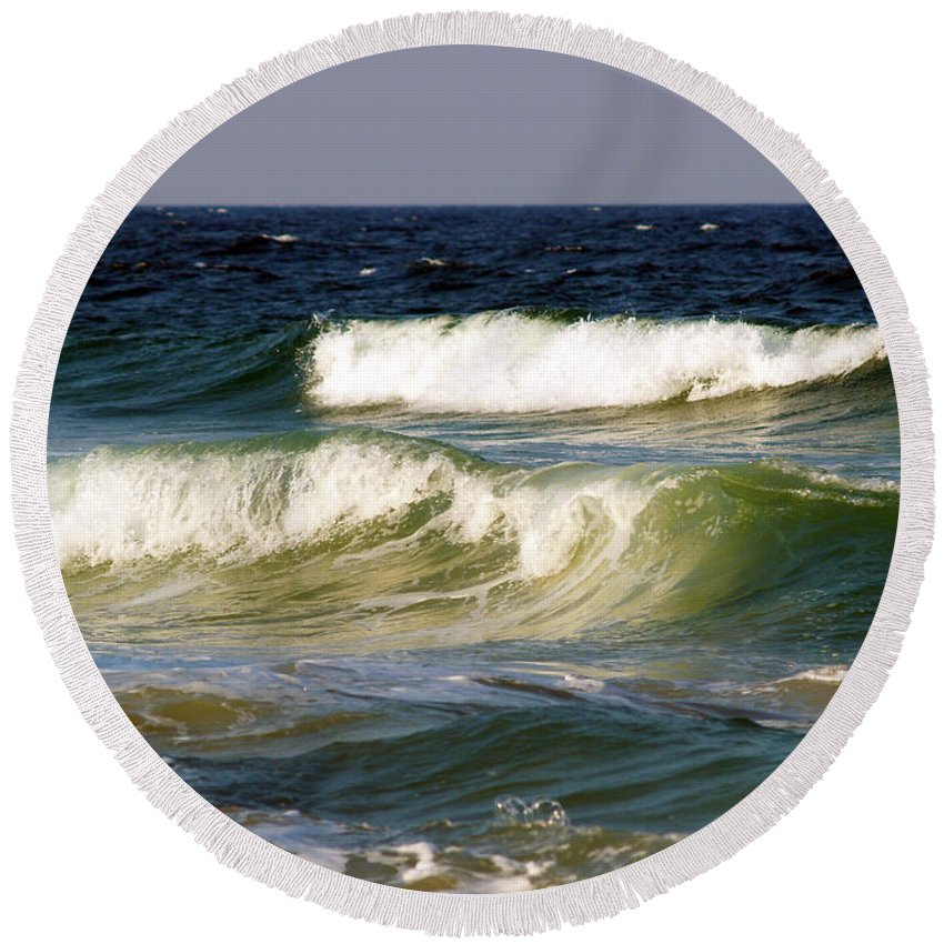 Fine Art Print Round Beach Towel featuring the photograph Aftermath Of A Storm by Patricia Griffin Brett