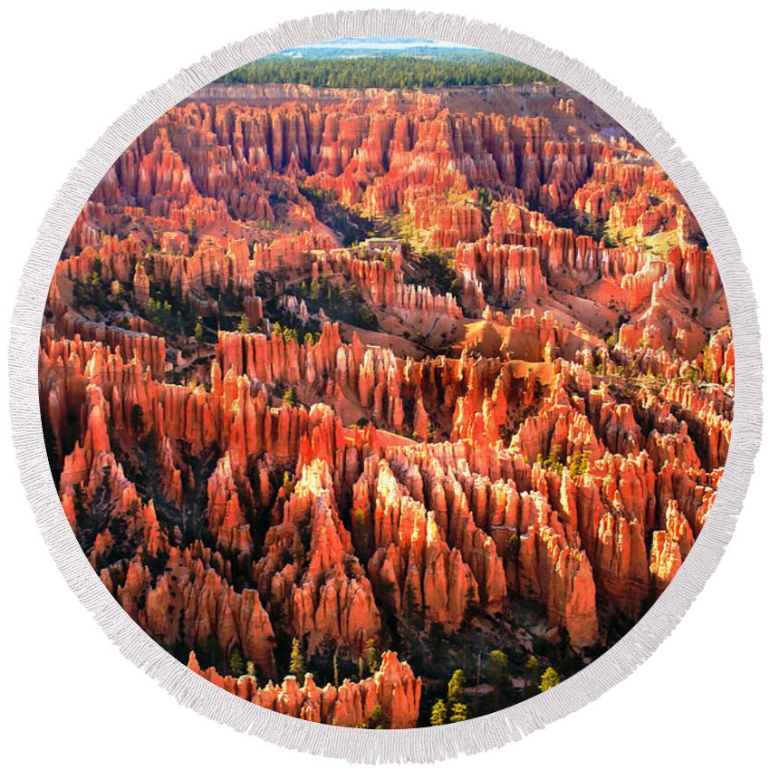 Bryce Canyon Round Beach Towel featuring the photograph Afternoon Hoodoos by Robert Bales