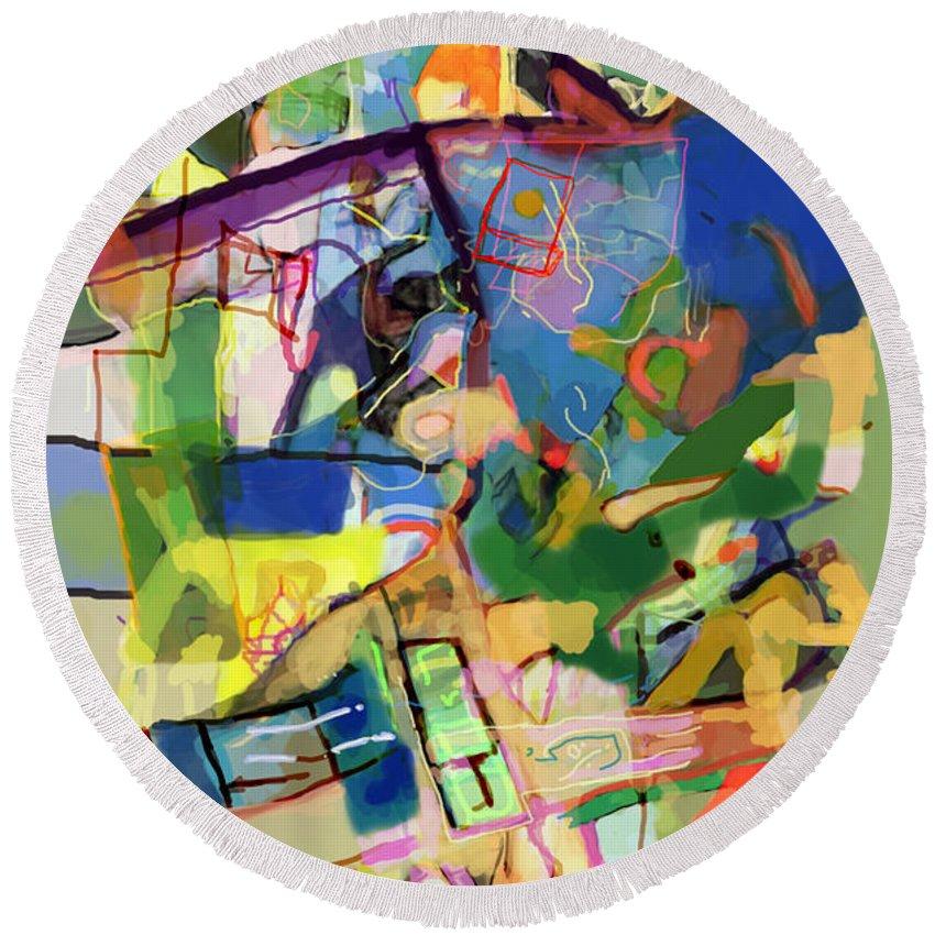 Torah Round Beach Towel featuring the digital art Self-renewal 15y by David Baruch Wolk