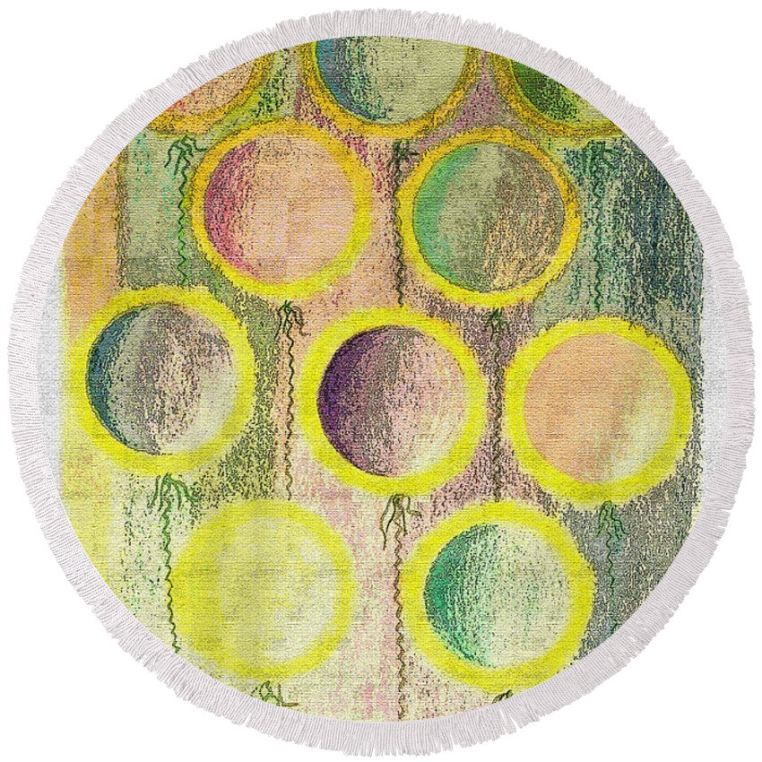 Abstract Round Beach Towel featuring the photograph Air On A String II by Debbie Portwood