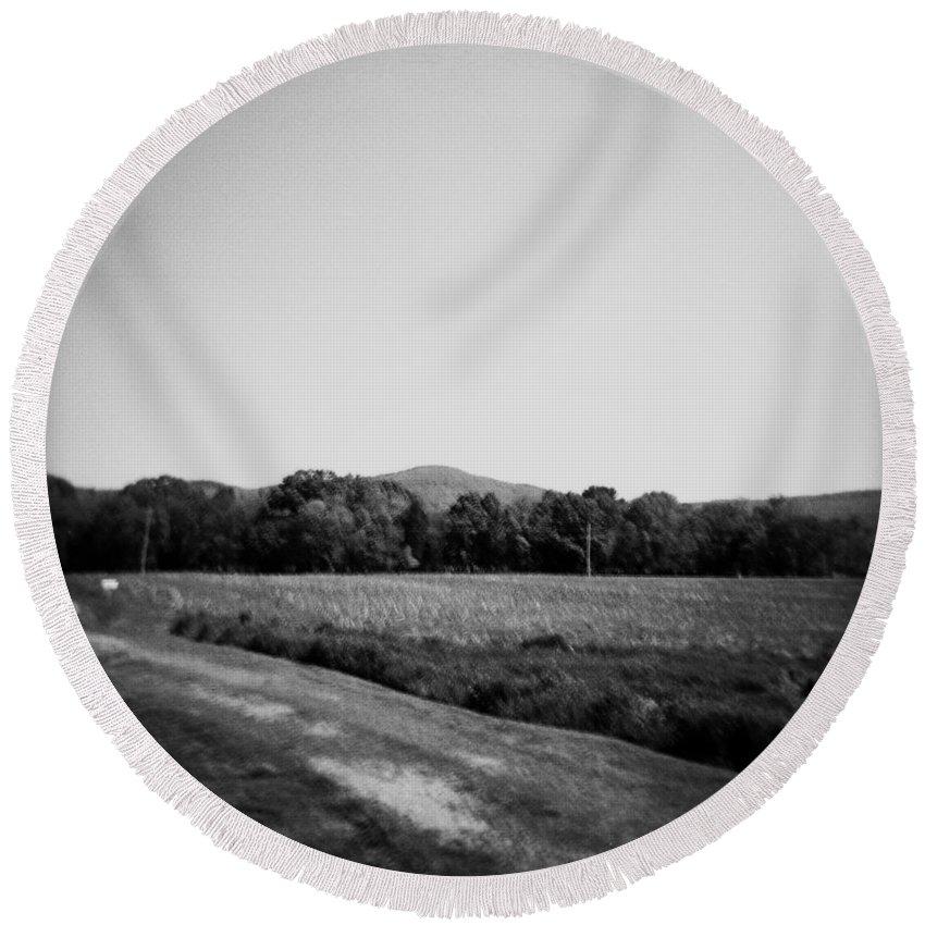 Alabama Round Beach Towel featuring the photograph Alabama Mountains 4 by Verana Stark