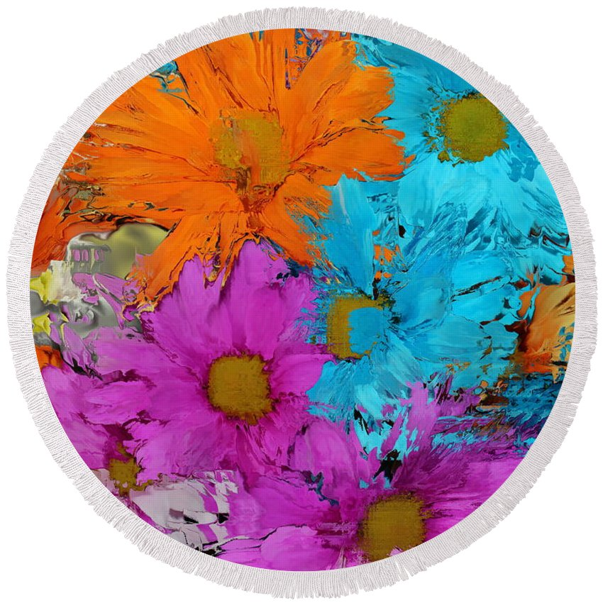 Flower Round Beach Towel featuring the photograph All The Flower Petals In This World 2 by Kume Bryant