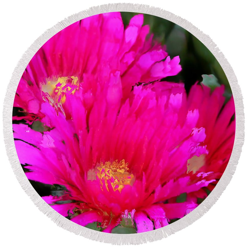 Flower Round Beach Towel featuring the photograph All The Flower Petals In This World 4 by Kume Bryant
