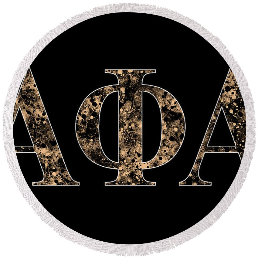 Alpha Phi Alpha Black Round Beach Towel For Sale By Stephen Younts