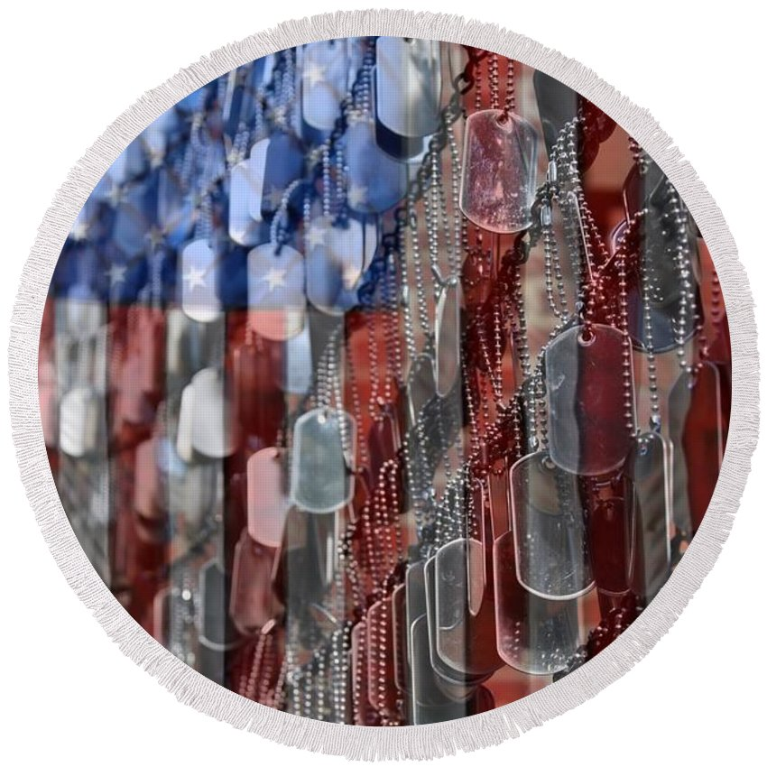 Memorial Day Round Beach Towels
