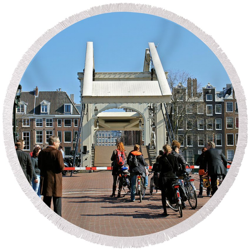Amsterdam Round Beach Towel featuring the photograph Amsterdam by Jon Cotroneo
