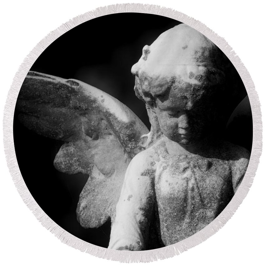 Black Round Beach Towel featuring the photograph Angelic by Joe Geraci