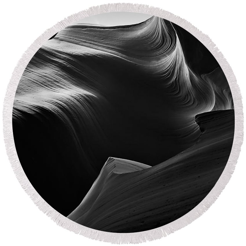 Antelope Round Beach Towel featuring the photograph Antelope Canyon 012 by Ingrid Smith-Johnsen