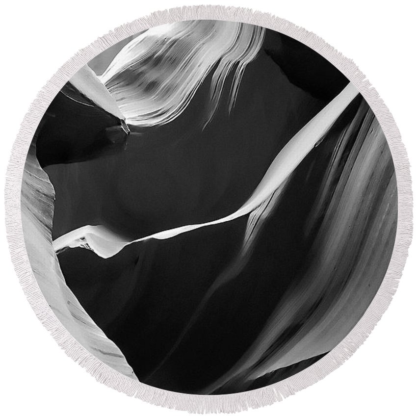 Antelope Round Beach Towel featuring the photograph Antelope Canyon 016 by Ingrid Smith-Johnsen