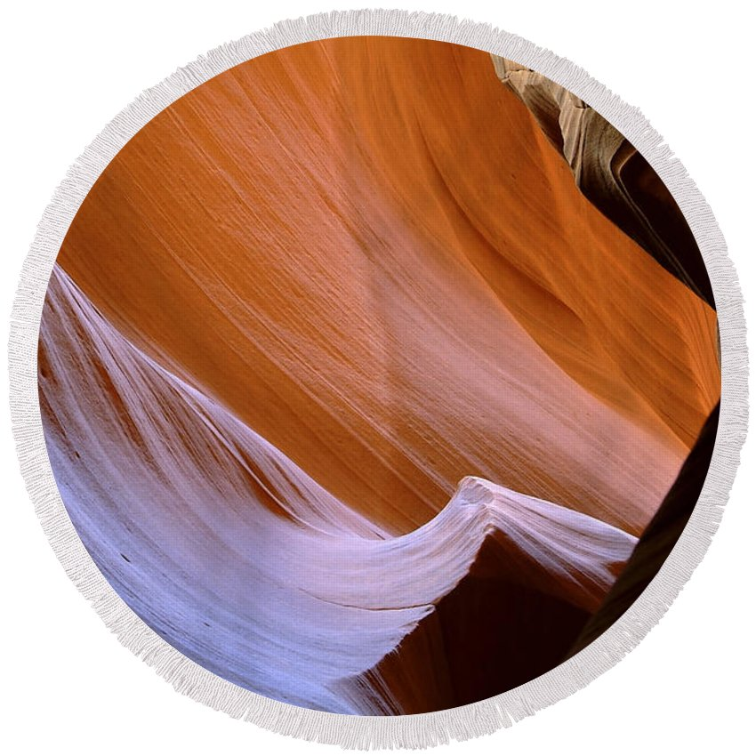 Antelope Round Beach Towel featuring the photograph Antelope Canyon 41 by Ingrid Smith-Johnsen