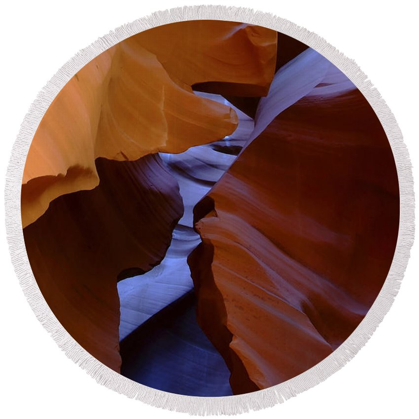 Antelope Round Beach Towel featuring the photograph Antelope Canyon 40 by Ingrid Smith-Johnsen