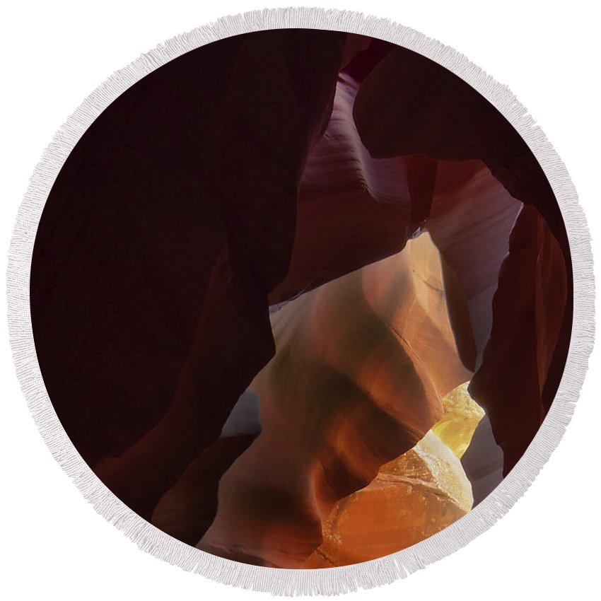 Antelope Round Beach Towel featuring the photograph Antelope Canyon 33 by Ingrid Smith-Johnsen