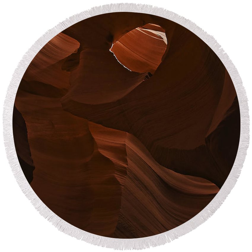 Antelope Round Beach Towel featuring the photograph Antelope Canyon 21 by Ingrid Smith-Johnsen