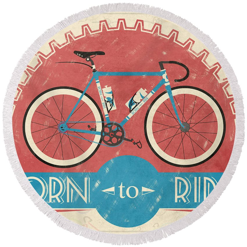 Bicycle Round Beach Towels