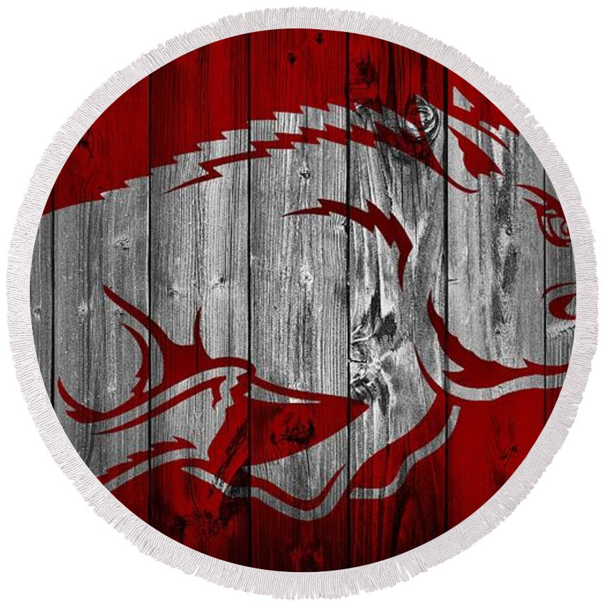 University Of Arkansas Round Beach Towels