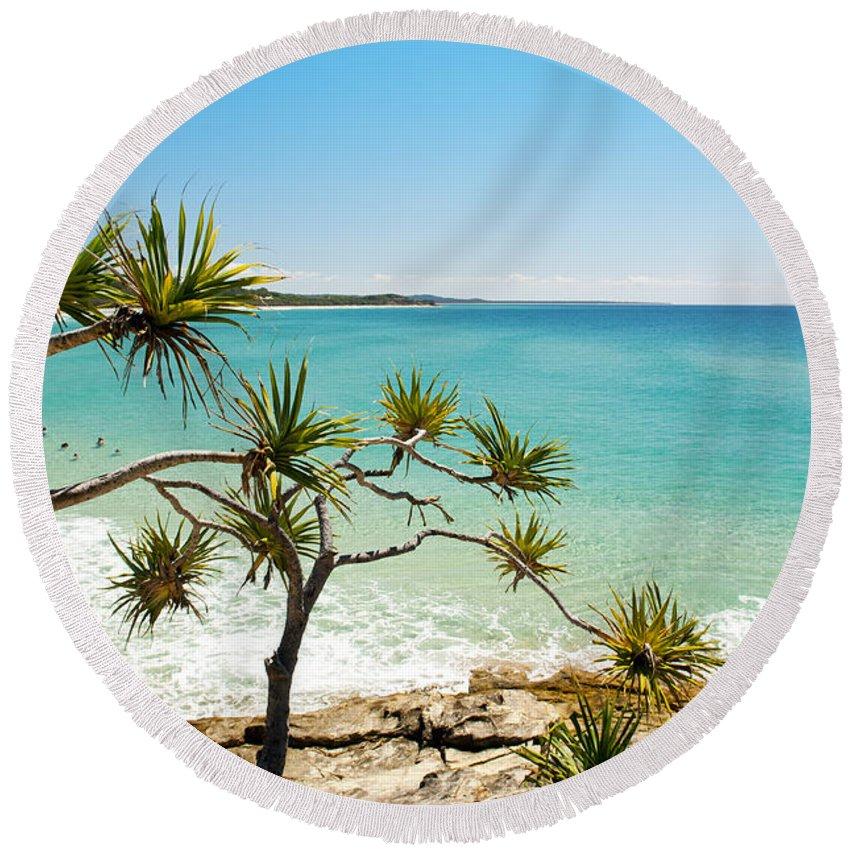 Beach Round Beach Towel featuring the photograph Australian Beach by Tim Hester