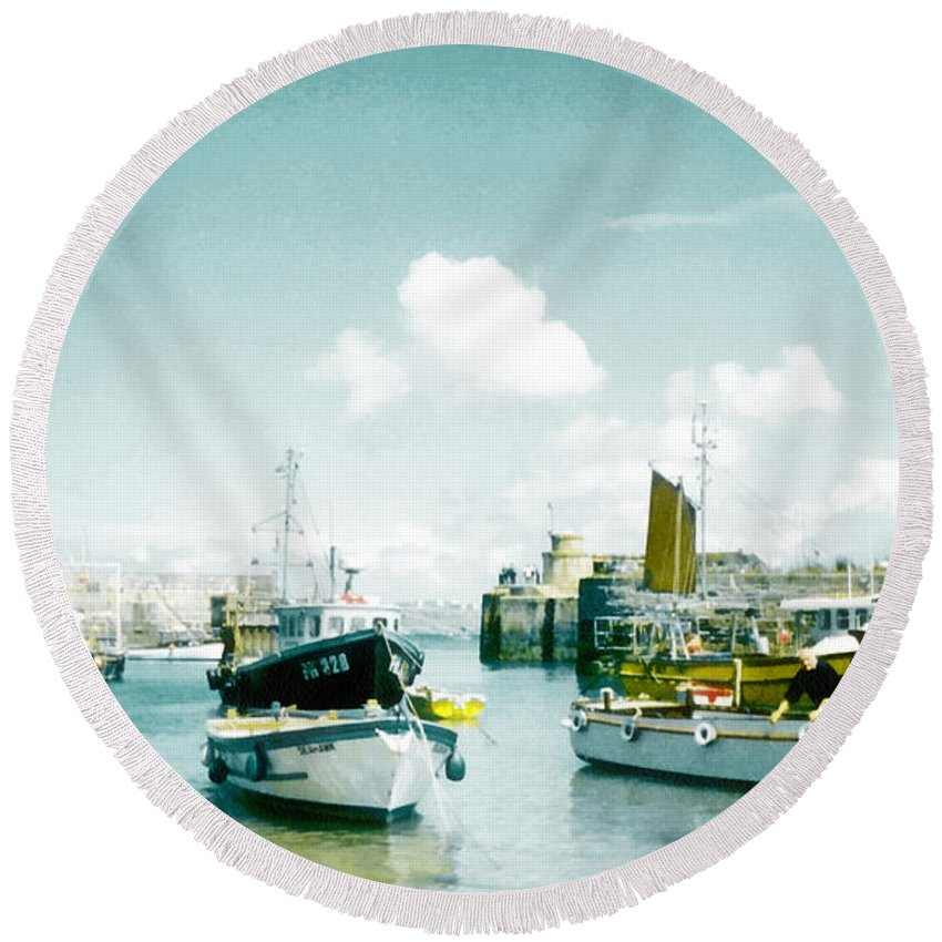 August Round Beach Towel featuring the photograph Back In The Olden Days by Steve Taylor