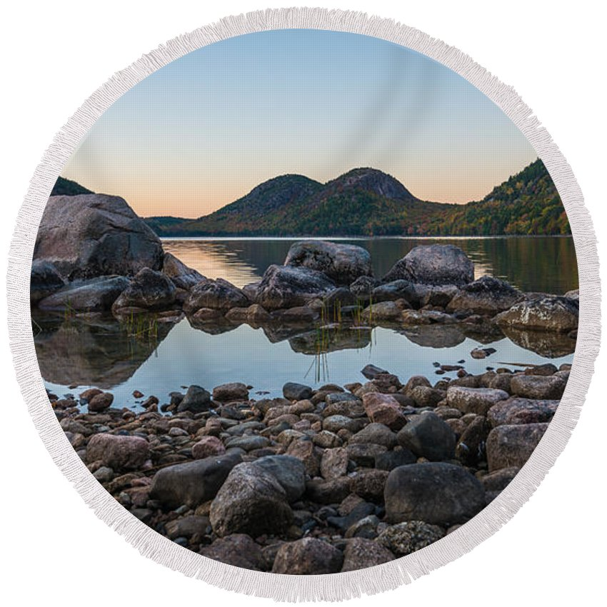 Acadia Round Beach Towel featuring the photograph Back Lit Bubbles by Kristopher Schoenleber