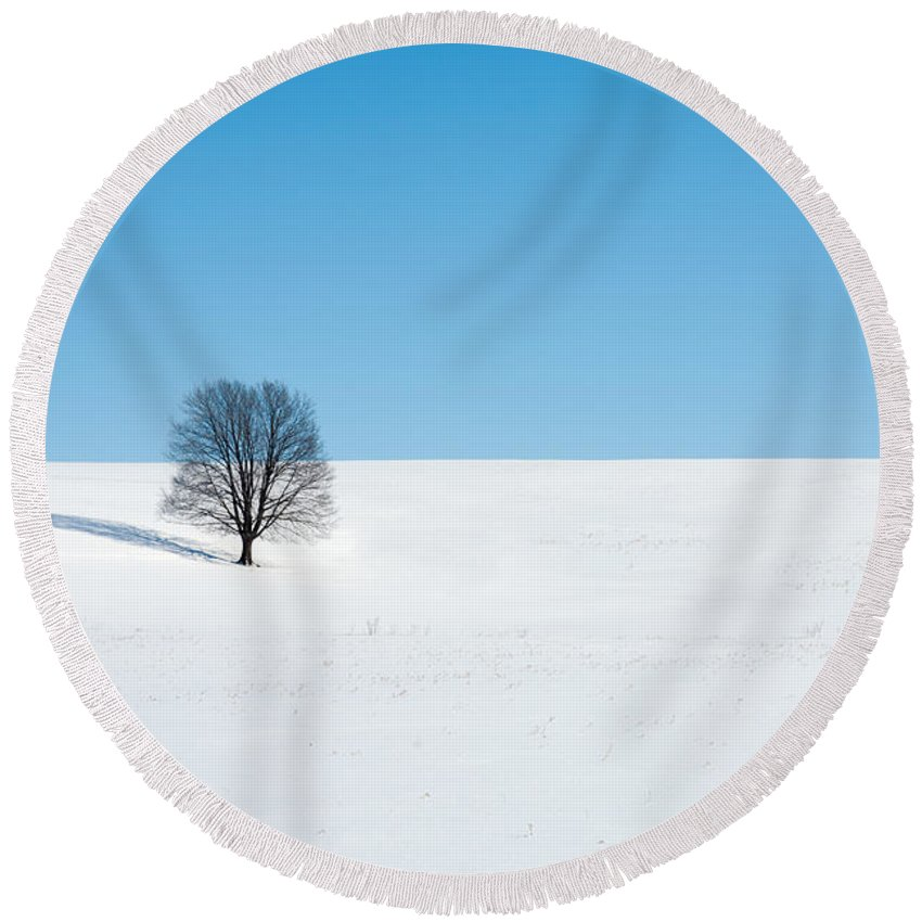 Snow Round Beach Towel featuring the photograph Balance by Todd Klassy