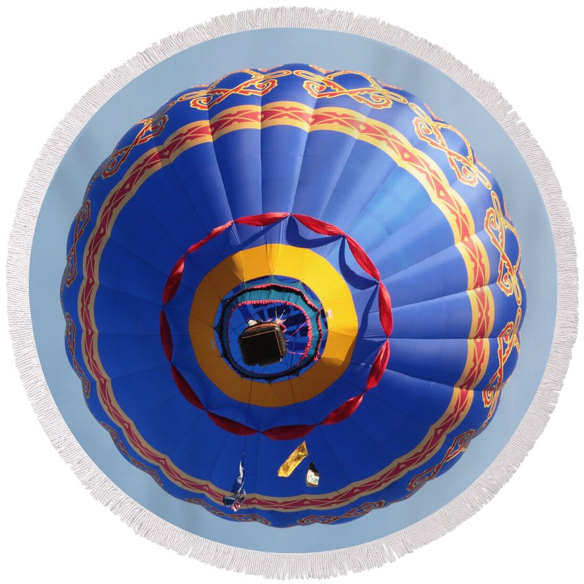 Balloon Round Beach Towel featuring the photograph Balloon Square 4 by Carol Groenen