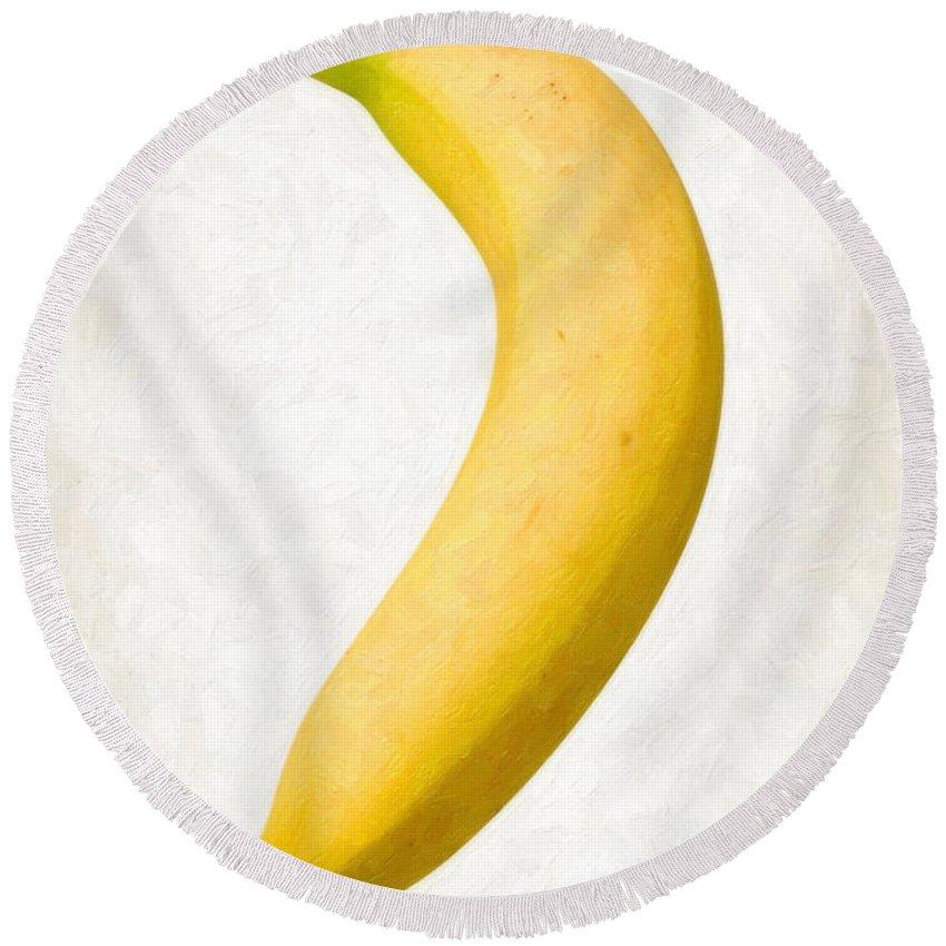 Banana Round Beach Towels