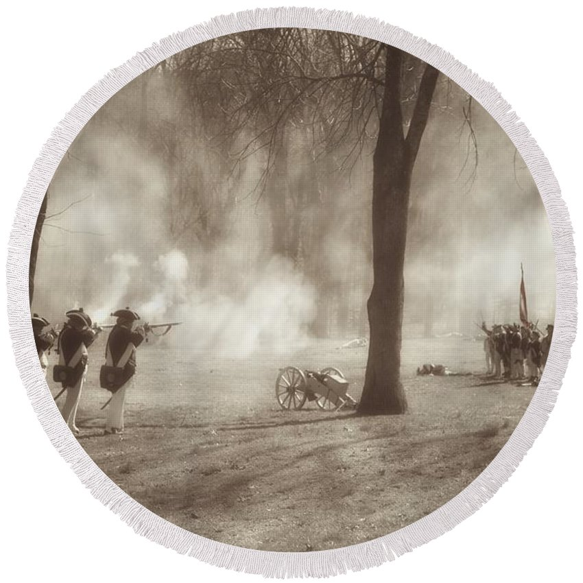 Revolutionary War Round Beach Towel featuring the photograph Battle Of Guilford Court House by Benanne Stiens