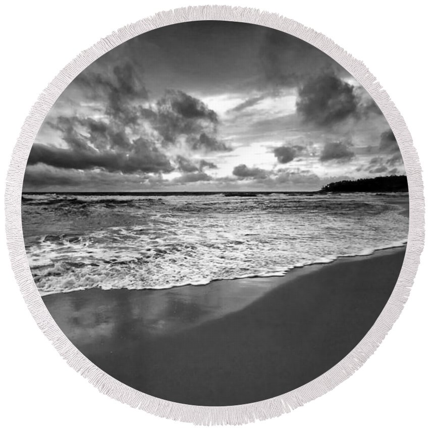 Beach Round Beach Towel featuring the photograph Beach 9 by Ingrid Smith-Johnsen