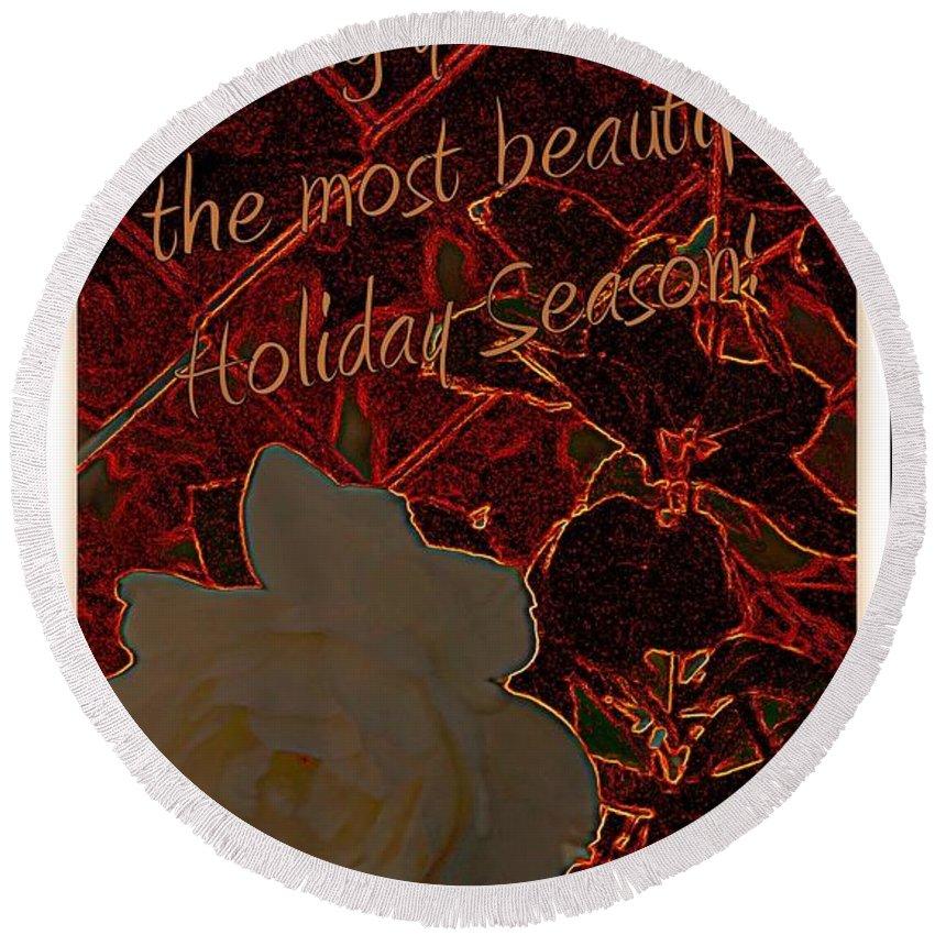 Acrylic Prints Round Beach Towel featuring the photograph Beautiful Holiday Season by Bobbee Rickard
