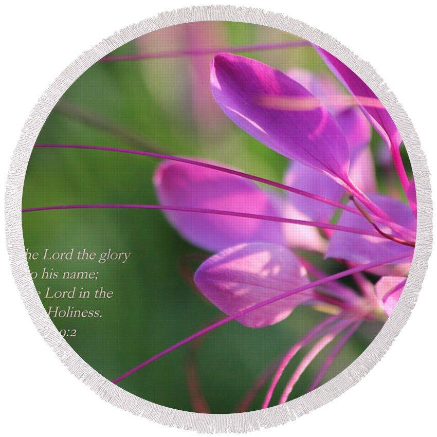 Flower Round Beach Towel featuring the photograph Beauty by Debbie Nobile