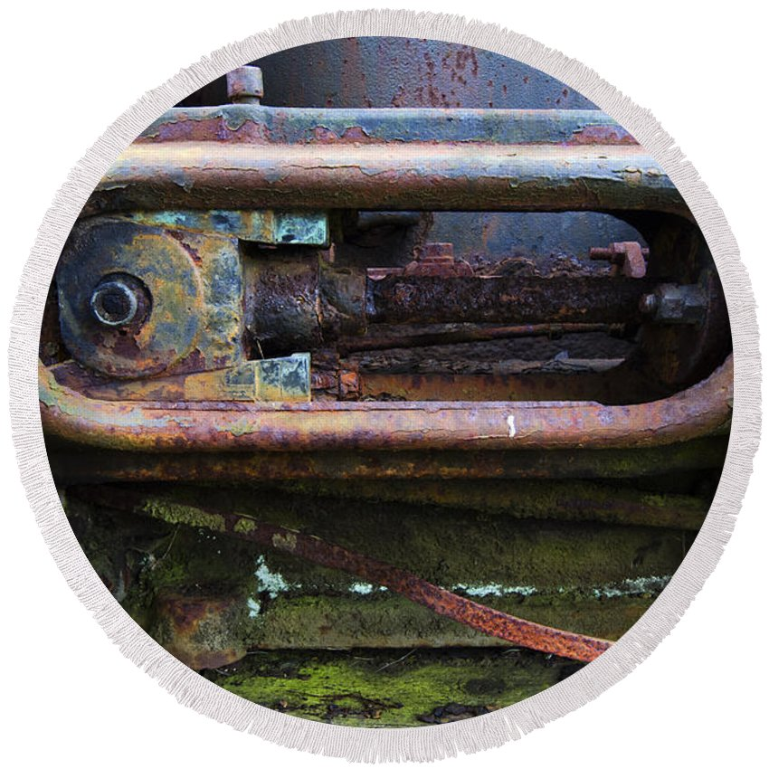 Rust Round Beach Towel featuring the photograph Beauty Of Rust 4 by Bob Christopher