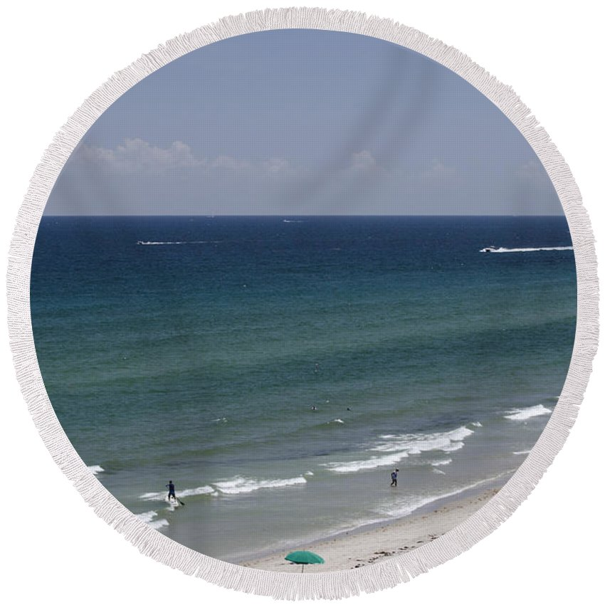 East Round Beach Towel featuring the photograph Beauty Of The East by Judy Wolinsky