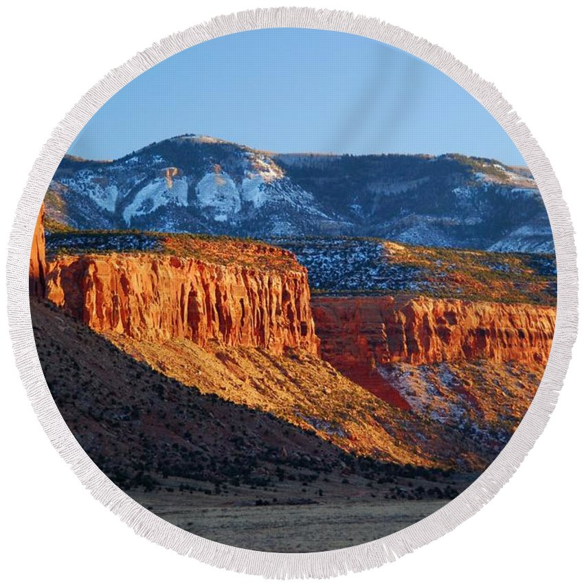 Beef Basin Round Beach Towel featuring the photograph Beef Basin - Utah Landscape by Cascade Colors