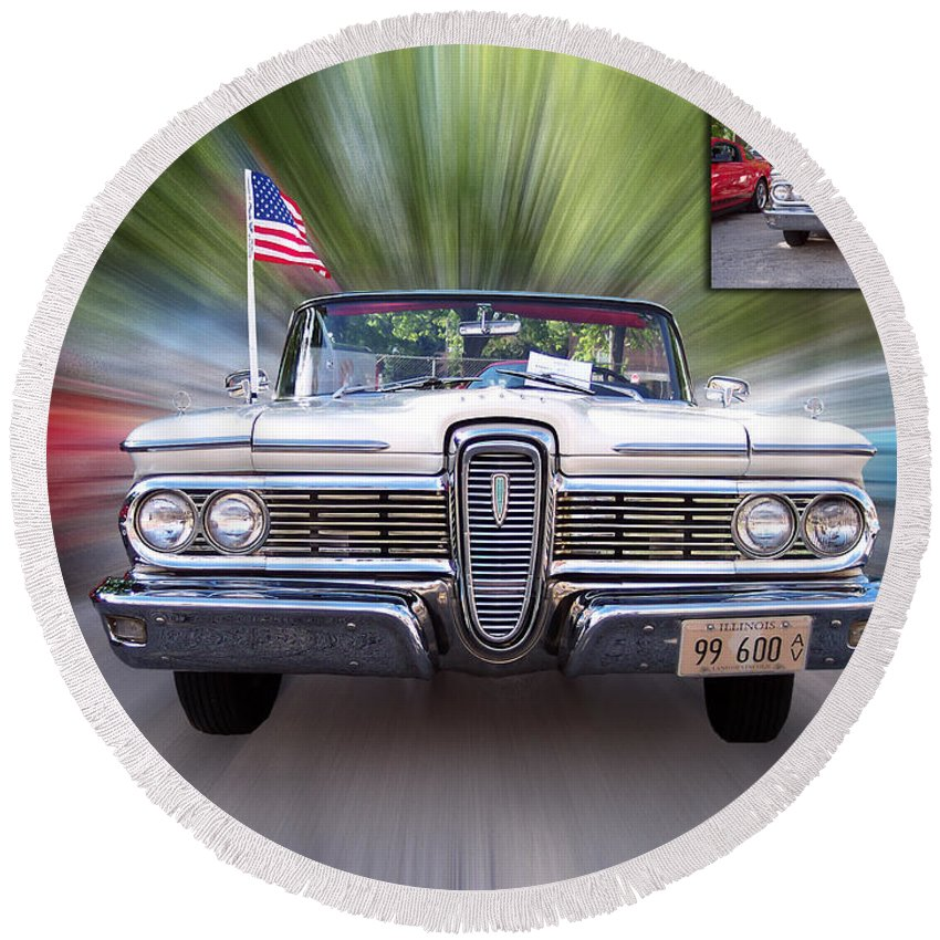Usa Round Beach Towel featuring the photograph Before And After Sample Art 21 by Thomas Woolworth