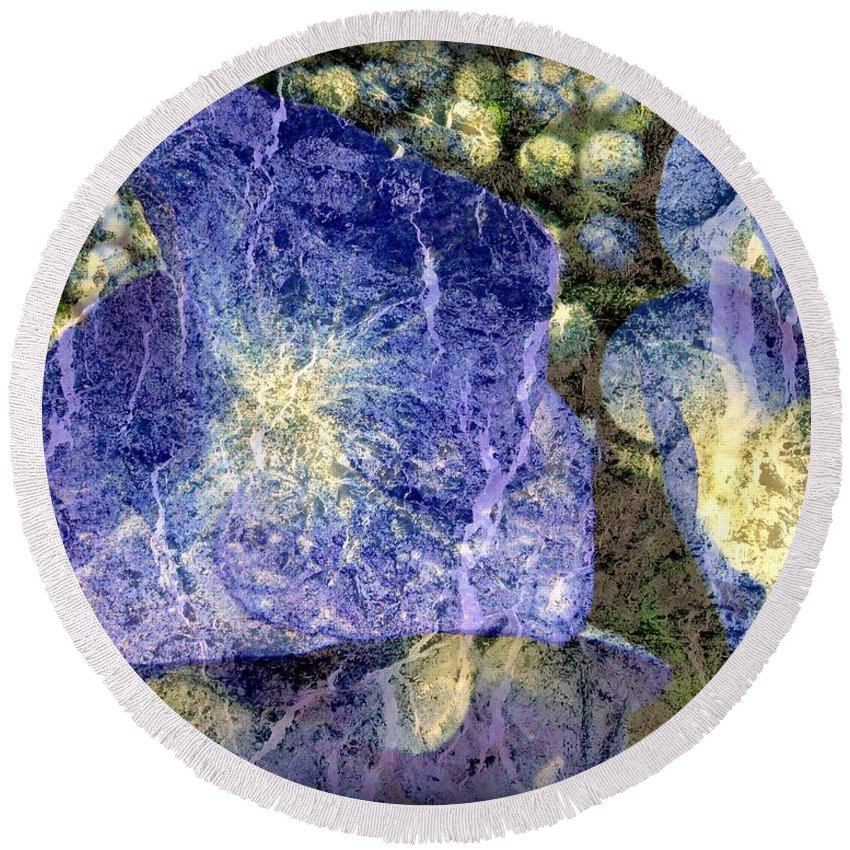 Texture Round Beach Towel featuring the photograph Beguiling by Priscilla Richardson