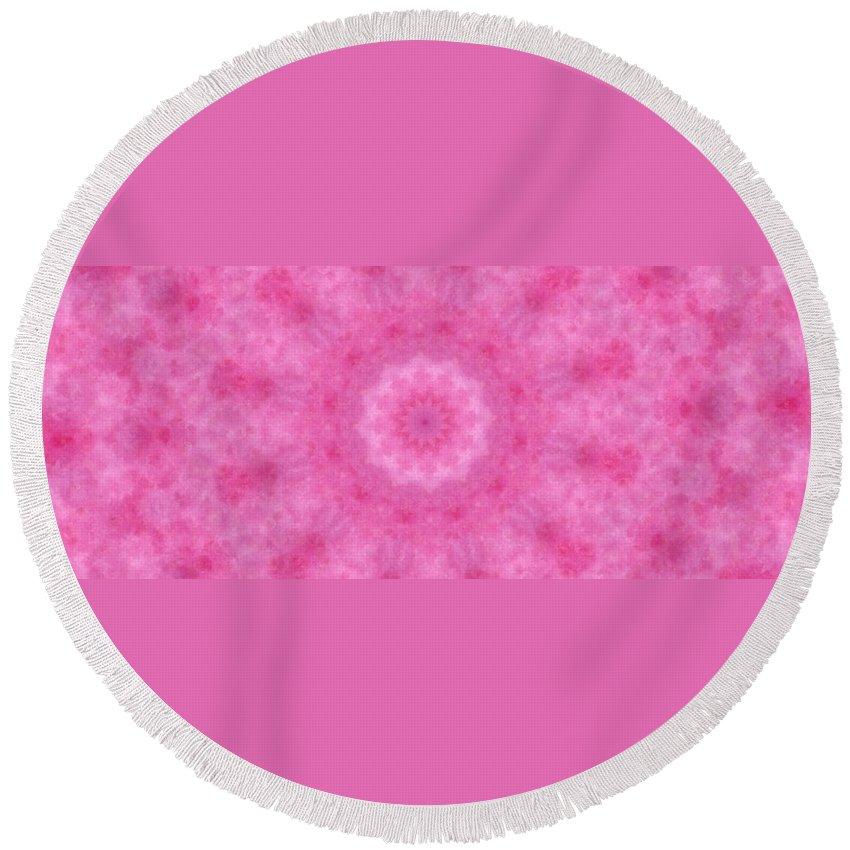 Mandala Round Beach Towel featuring the digital art Birthing Mandala 20 by Rhonda Barrett