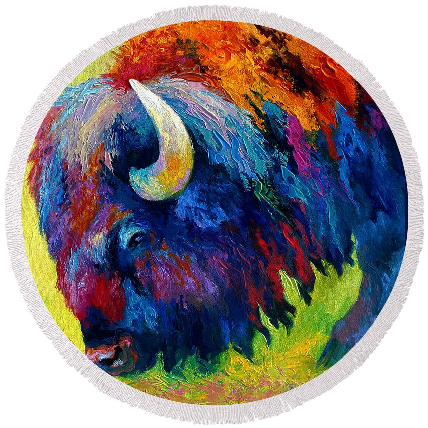 Mammals Round Beach Towels