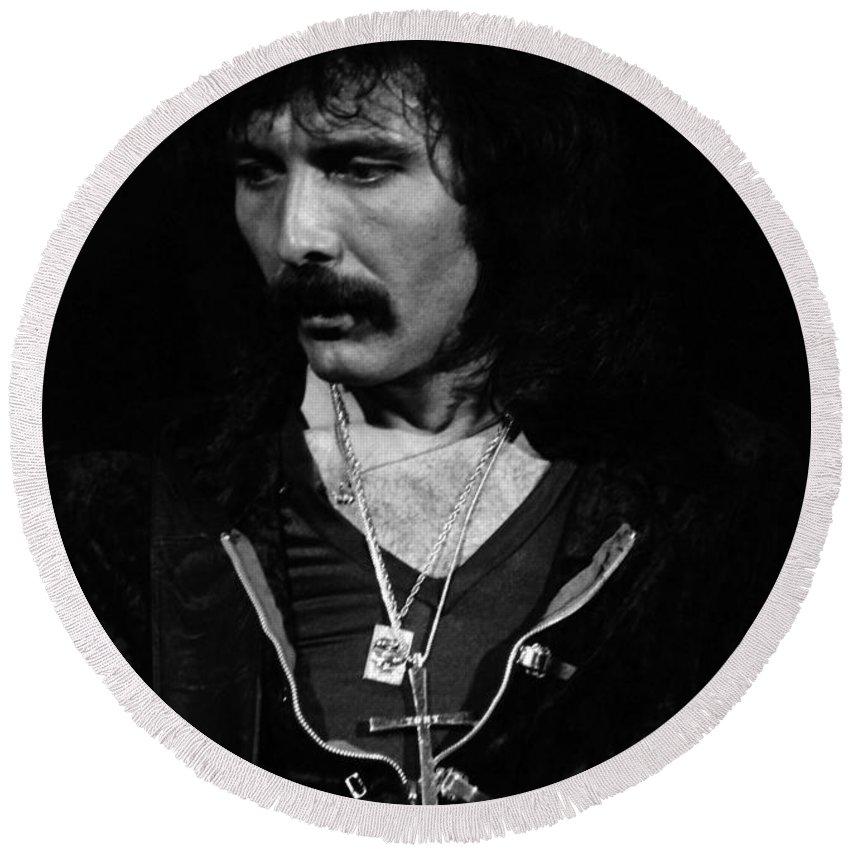 Black Sabbath Round Beach Towel featuring the photograph Black Sabbath #45 by Ben Upham