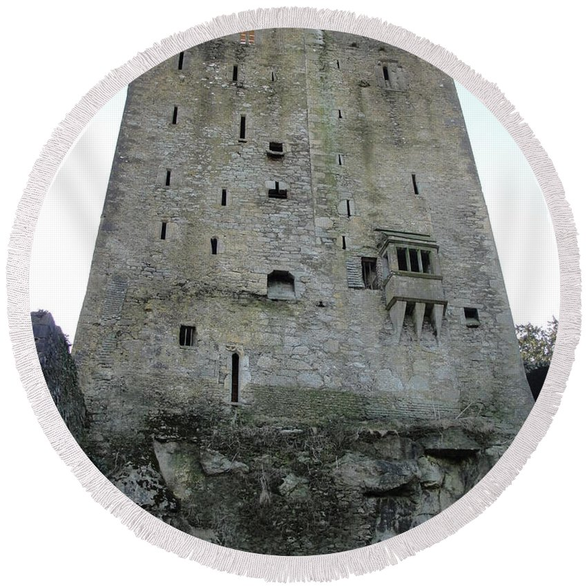 Ireland Round Beach Towel featuring the photograph Blarney Castle by Tiffany Erdman