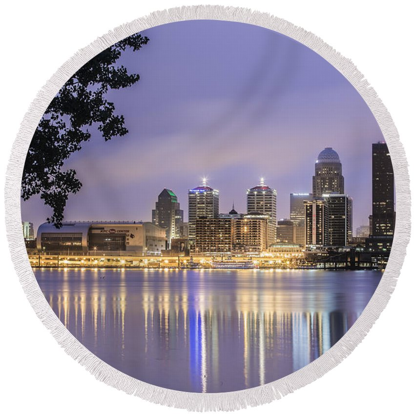 Louisville Round Beach Towel featuring the photograph Bliss by James Guest