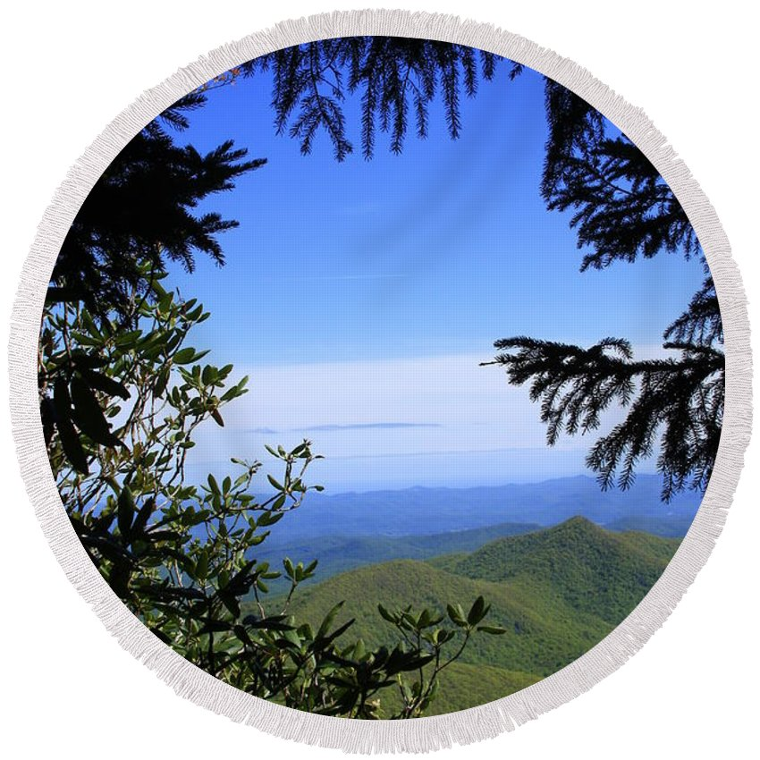 Landscape Round Beach Towel featuring the photograph Blue Ridge Parkway Norh Carolina by Mountains to the Sea Photo