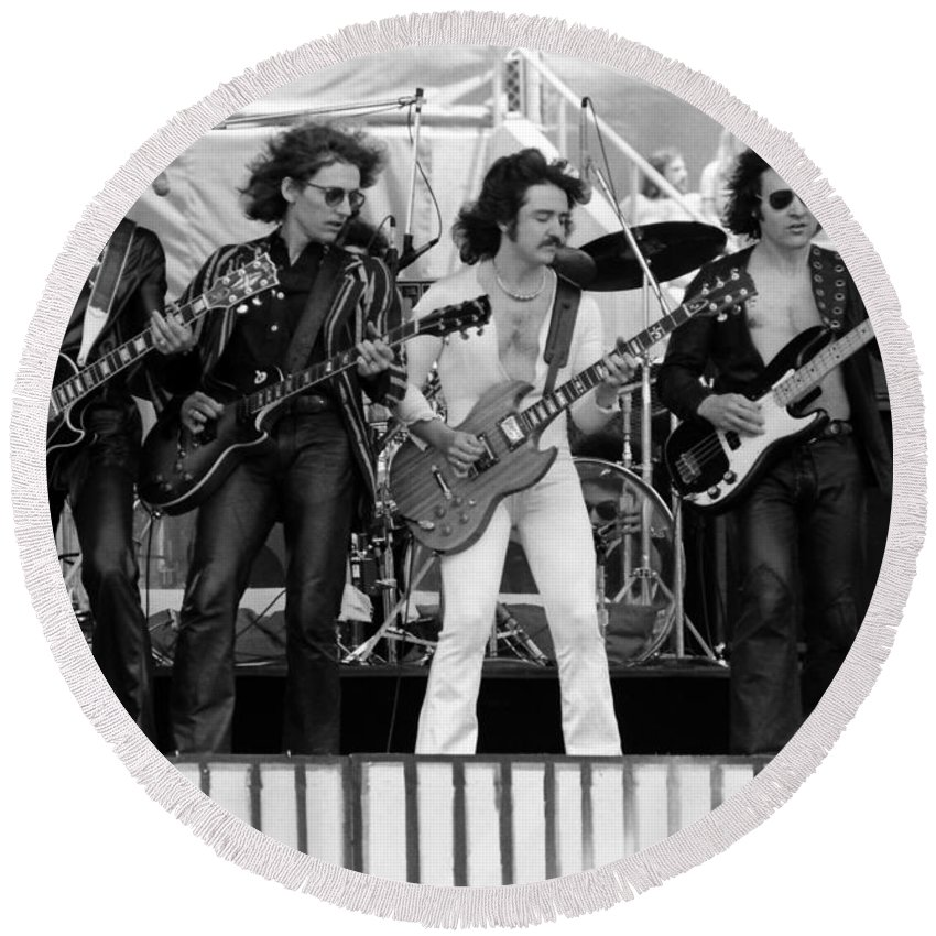 Blue Oyster Cult Round Beach Towel featuring the photograph Boc #103 by Ben Upham