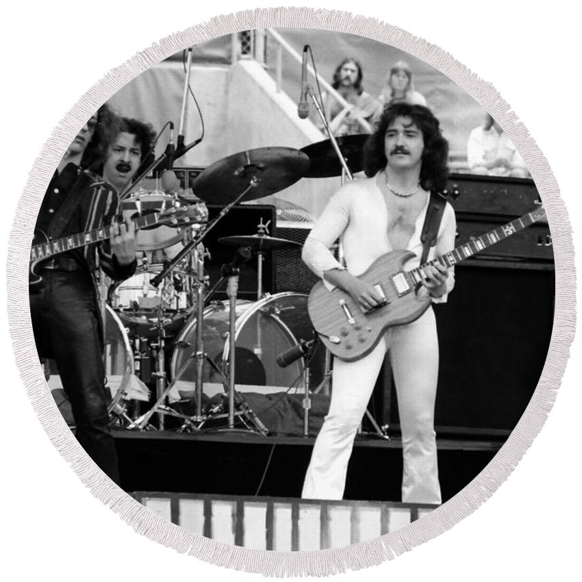 Blue Oyster Cult Round Beach Towel featuring the photograph Boc #45 by Ben Upham