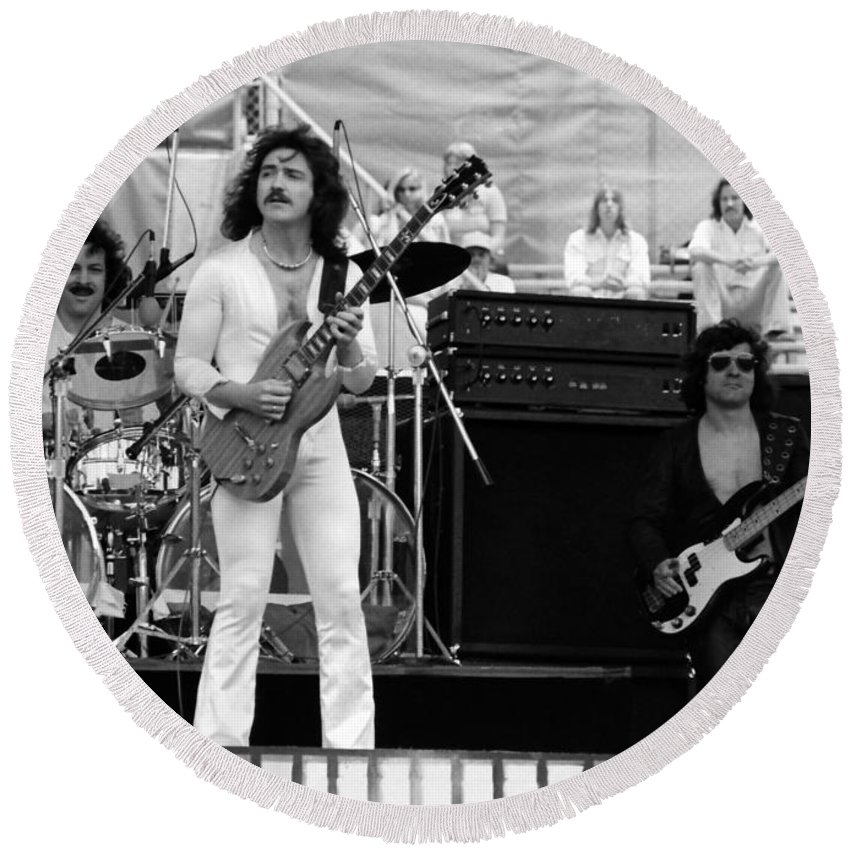 Blue Oyster Cult Round Beach Towel featuring the photograph Boc #46 by Ben Upham
