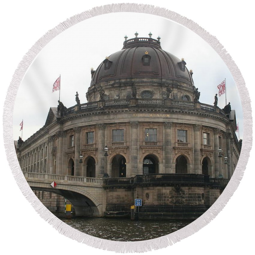 Museum Round Beach Towel featuring the photograph Bode Museum - Berlin - Germany by Christiane Schulze Art And Photography